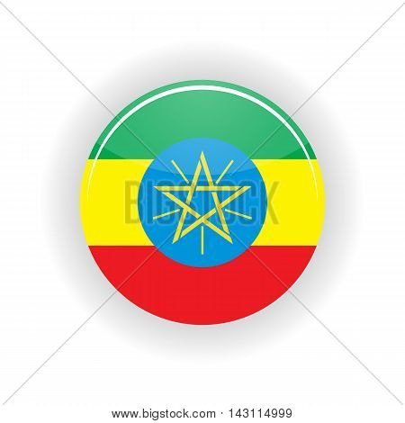 Ethiopia icon circle isolated on white background. Addis Ababa icon vector illustration