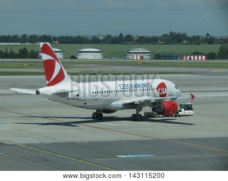 Czech Airlines Airbus A319 In Prague