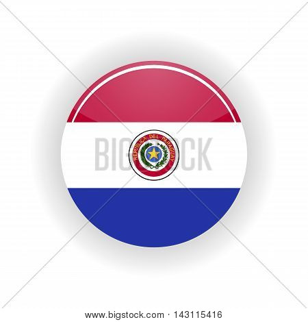 Paraguay icon circle isolated on white background. Asuncion icon vector illustration