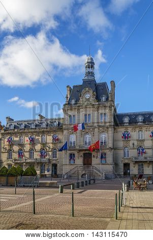 Coutances City Hall in historic city center France