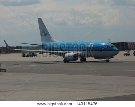 Klm Royal Dutch Airlines Aircraft In Prague