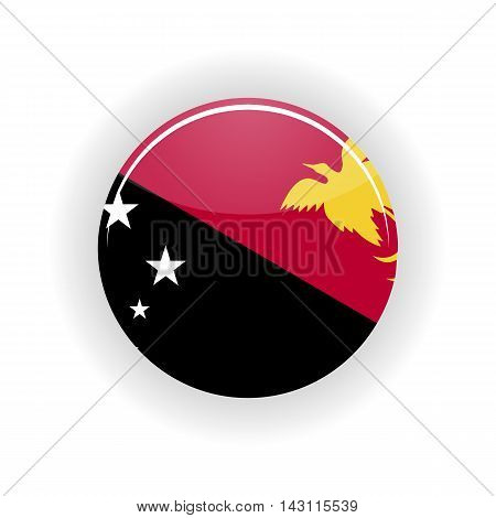 Papua New Guinea icon circle isolated on white background. Port Moresby icon vector illustration