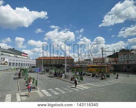 Florenc Bus Station In Prague