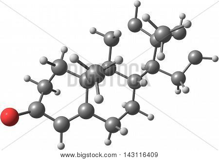 Androstadienone is an endogenous steroid that has been described as having potent pheromone-like activities in humans. 3d illustration