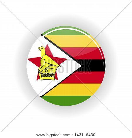 Zimbabwe icon circle isolated on white background. Harare icon vector illustration
