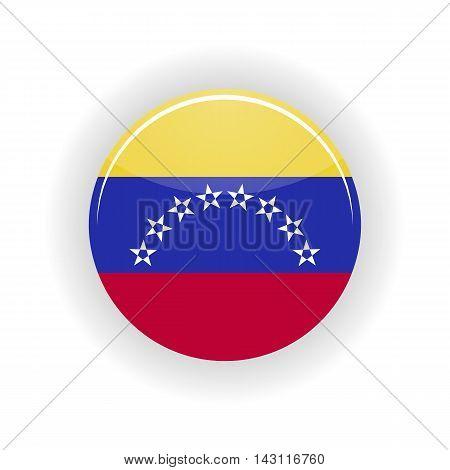 Venezuela icon circle isolated on white background. Caracas icon vector illustration