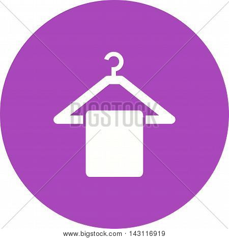 Towel, hanging, clean icon vector image.Can also be used for spa. Suitable for mobile apps, web apps and print media.