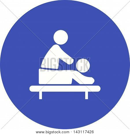 Massage, therapy, spa icon vector image. Can also be used for spa. Suitable for use on web apps, mobile apps and print media.
