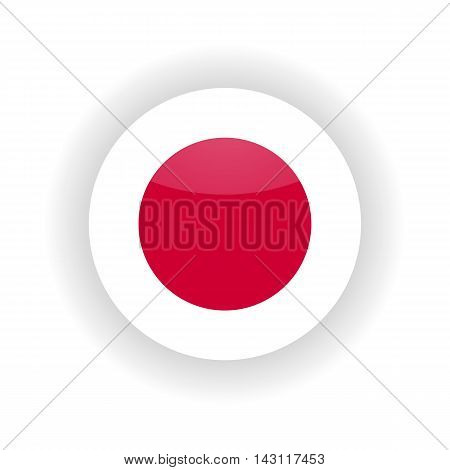 Japan icon circle isolated on white background. Tokyo icon vector illustration