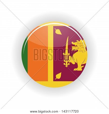 Sri Lanka icon circle isolated on white background. Colombo icon vector illustration