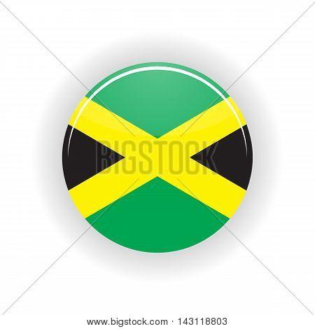 Jamaica icon circle isolated on white background. Kingston icon vector illustration