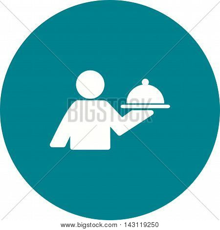 Waiter, serving, food icon vector image. Can also be used for celebrations. Suitable for use on web apps, mobile apps and print media.