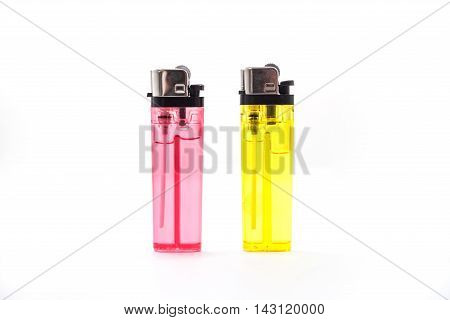 For the cigarette lighter or lit isolated on white background.