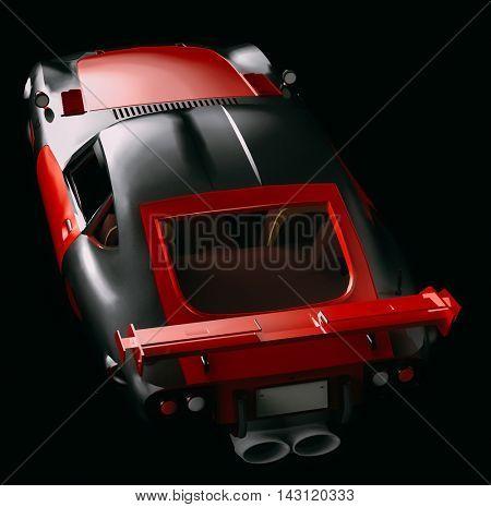 Concept sports car 3d illustration