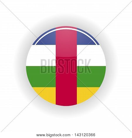 Central African Republic icon circle isolated on white background. Bangui icon vector illustration