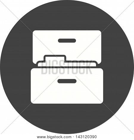 File, cabinet, drawer icon vector image. Can also be used for finances trade. Suitable for web apps, mobile apps and print media.