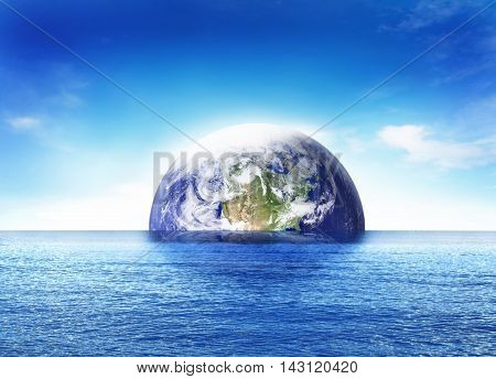 Earth globe or earth ball