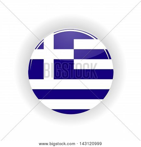 Greece icon circle isolated on white background. Athens icon vector illustration