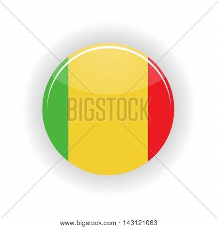Mali icon circle isolated on white background. Bamako icon vector illustration