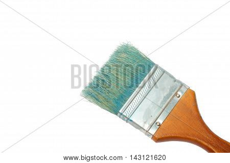 Old Dirty Paint Brush Isolated On White