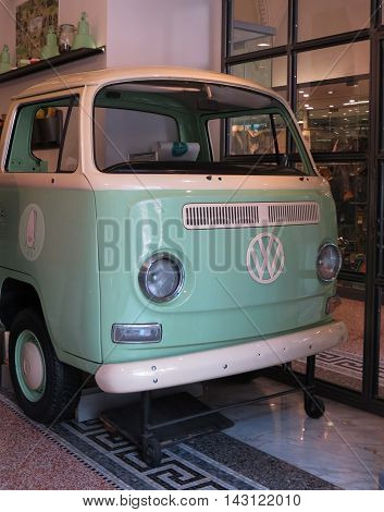 Light Green Volkswagen Van