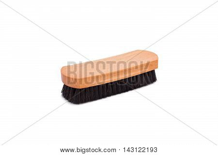 Horsehair Shoe Brush Isolated On White Background