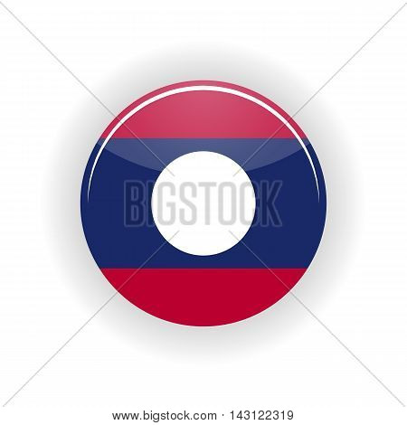 Laos icon circle isolated on white background. Vientiane icon vector illustration