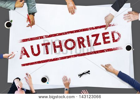 Authorized Allowance Approve Permit Graphic Concept