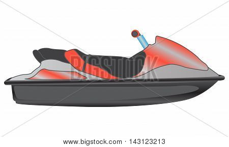 Personal watercraft isolated on white background, vector illustration