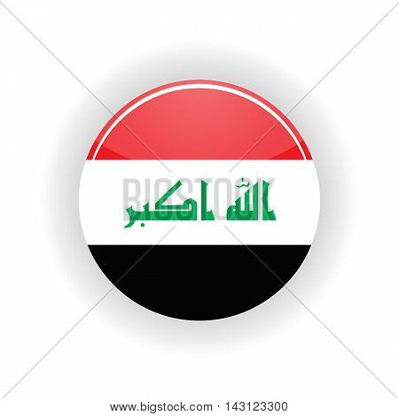 Iraq icon circle isolated on white background. Baghdad icon vector illustration