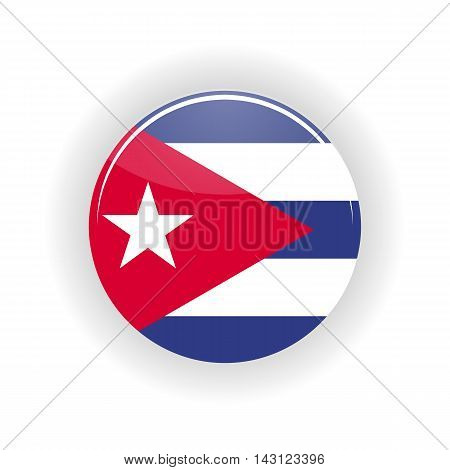 Cuba icon circle isolated on white background. Havana icon vector illustration