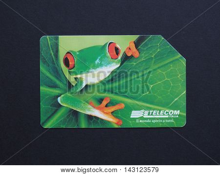 Telecom Italia Phone Card In Rome