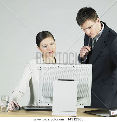 Businesspeople At Computer