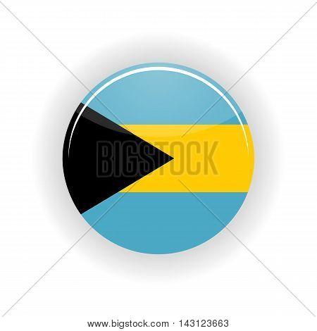 Bahamas icon circle isolated on white background. Nassau icon vector illustration