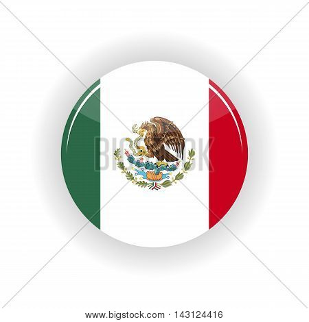 Mexico icon circle isolated on white background. Mexico icon vector illustration