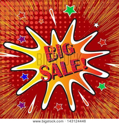 Big sale banner template design, vector illustration