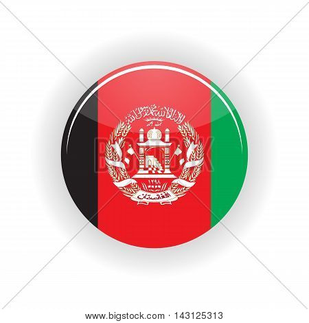 Afghanistan icon circle isolated on white background. Kabul icon vector illustration