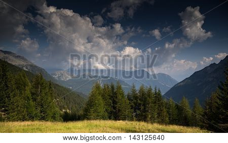 Mountain Landscape In Alps