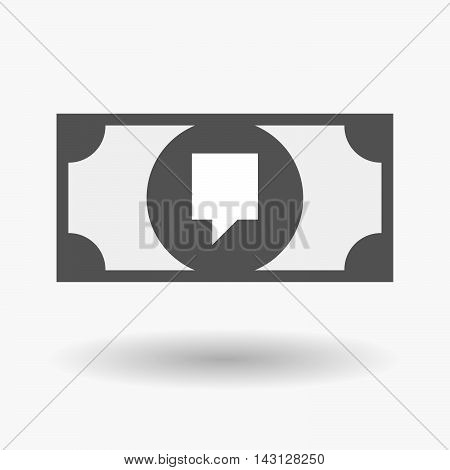 Isolated Bank Note Icon With A Tooltip