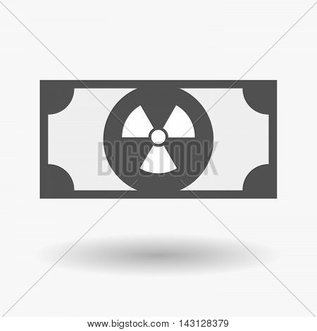 Isolated Bank Note Icon With A Radio Activity Sign