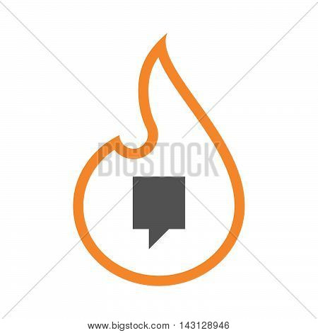 Isolated Isolated Line Art Flame Icon With A Tooltip