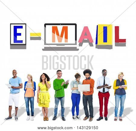 Email Correspondence Communication Word Style Concept