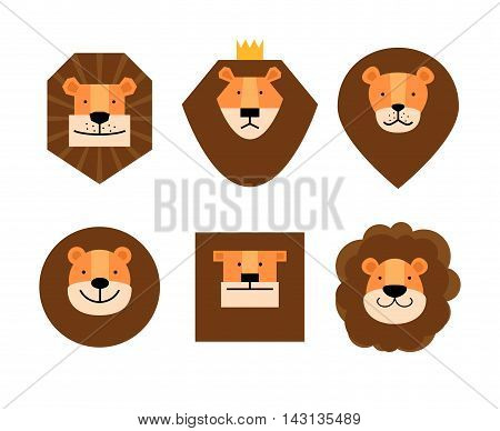 Nice Set of lions with different  manes