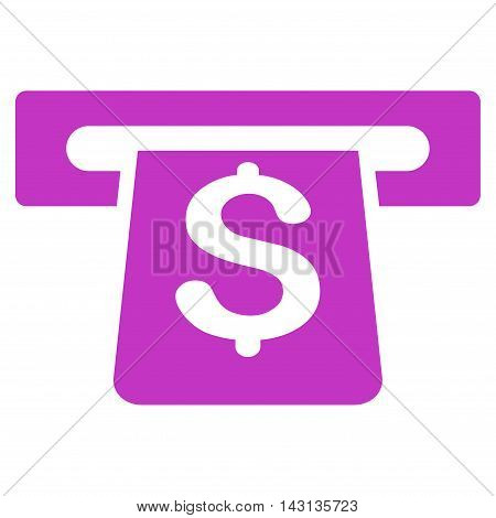 Payment Terminal icon. Vector style is flat iconic symbol with rounded angles, violet color, white background.