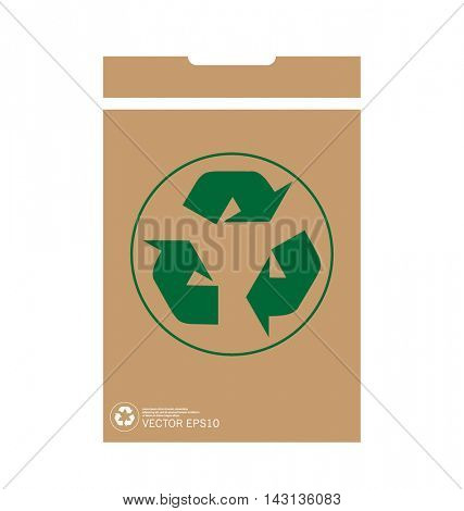 Recycle symbol. Vector symbol on the packaging, vector Illustration
