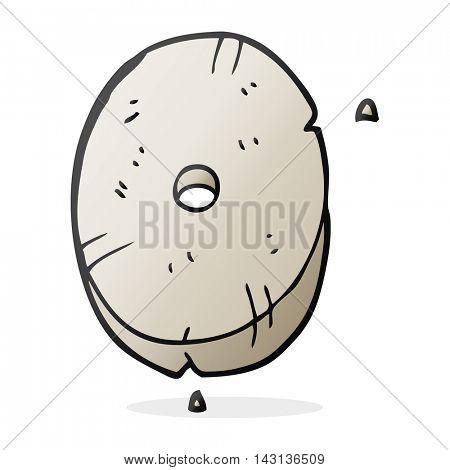 freehand drawn cartoon stone number zero