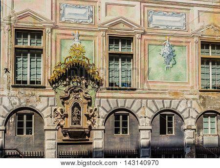 Palazzo San Giorgio Of Genova. Liguria, Italy.