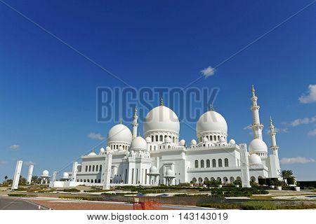 Beautiful view of Sheikh Zayed,  Abu Dhabi, UAE
