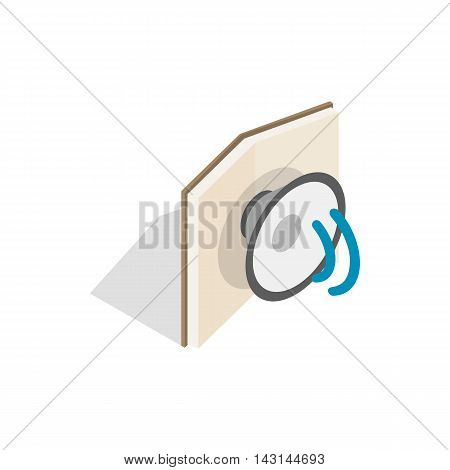 Audiobook icon in isometric 3d style on a white background