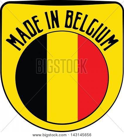 Made in Belgium badge sign. Vector illustration